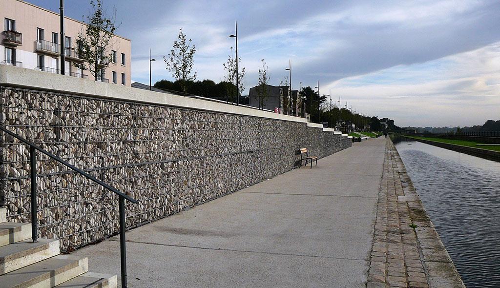 Aménagement des berges Orléans (45) - amenagement moderne berge gabion