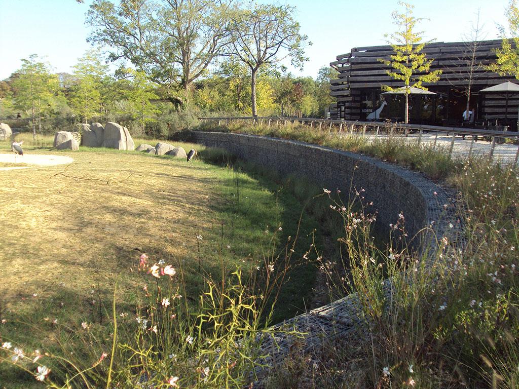 enclos zoo vincennes 75 SETP gabion mur 2012