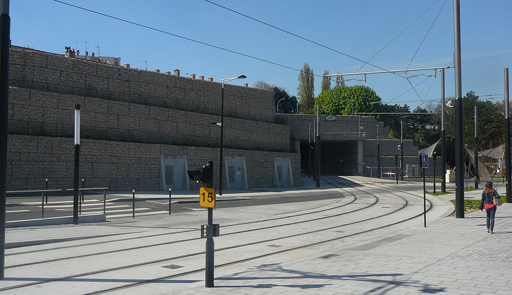Mur de soutènement en gabions Le Havre (76) - mur soutènement gabions