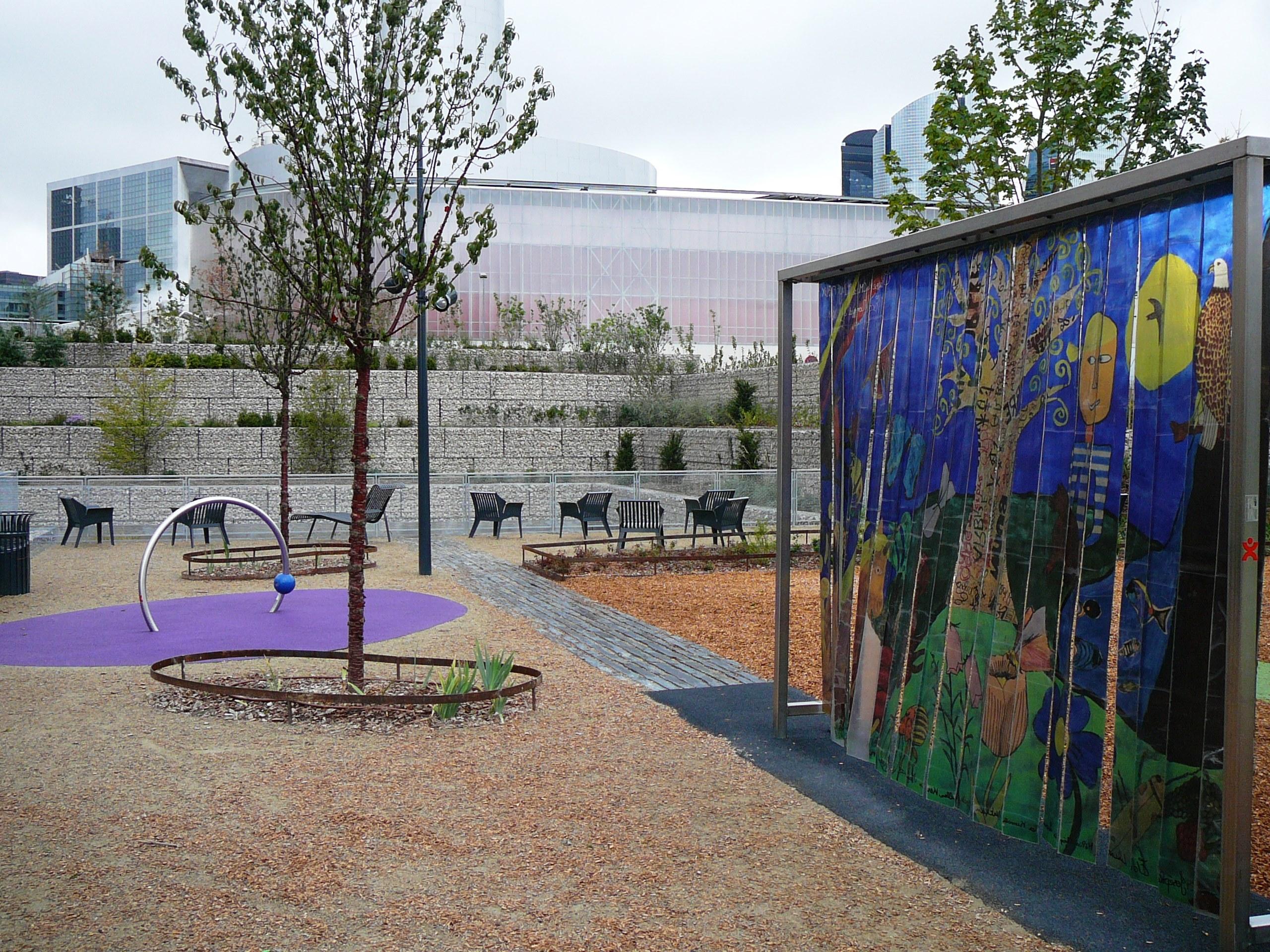 Parc saint lô courbevoie gabion stonebox SETP