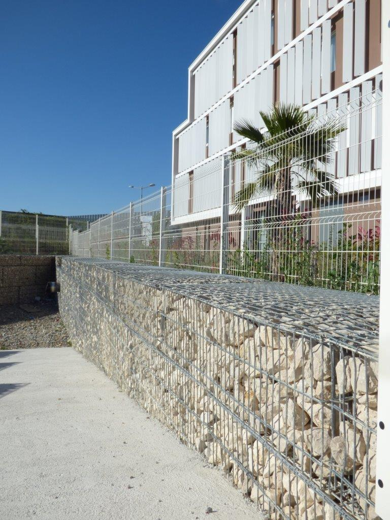 training center Baillargues SETP 2016 gabions