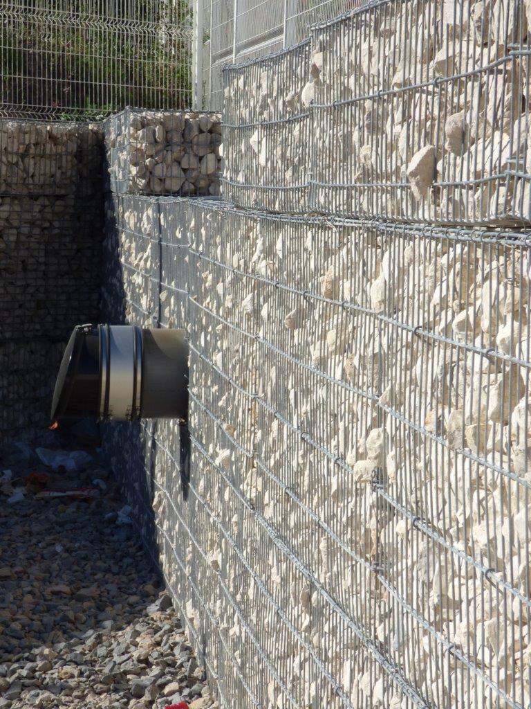 training center Baillargues SETP 2016 stonebox pvc pipes