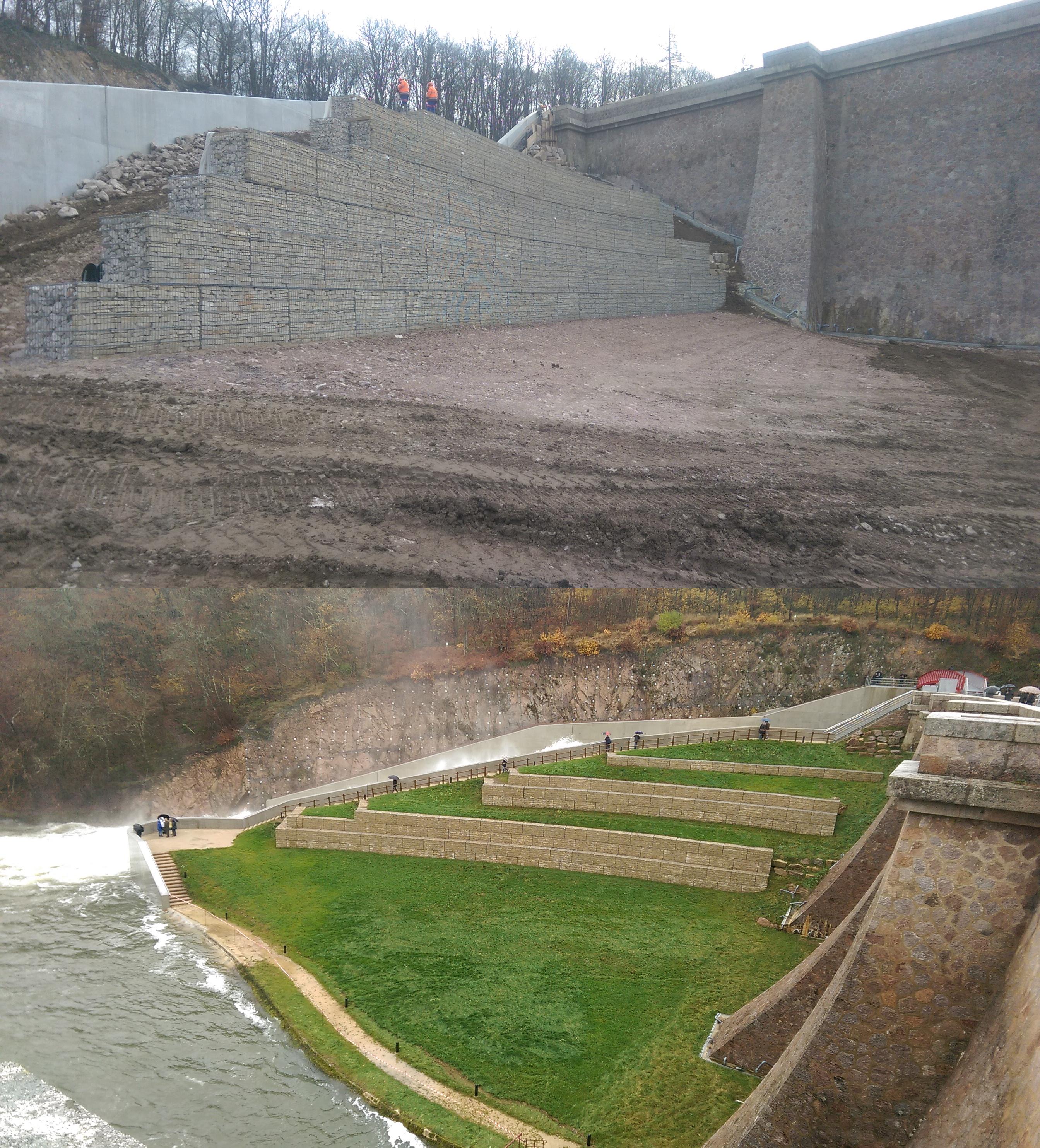 dam pont et massène before after SETP Stonebox