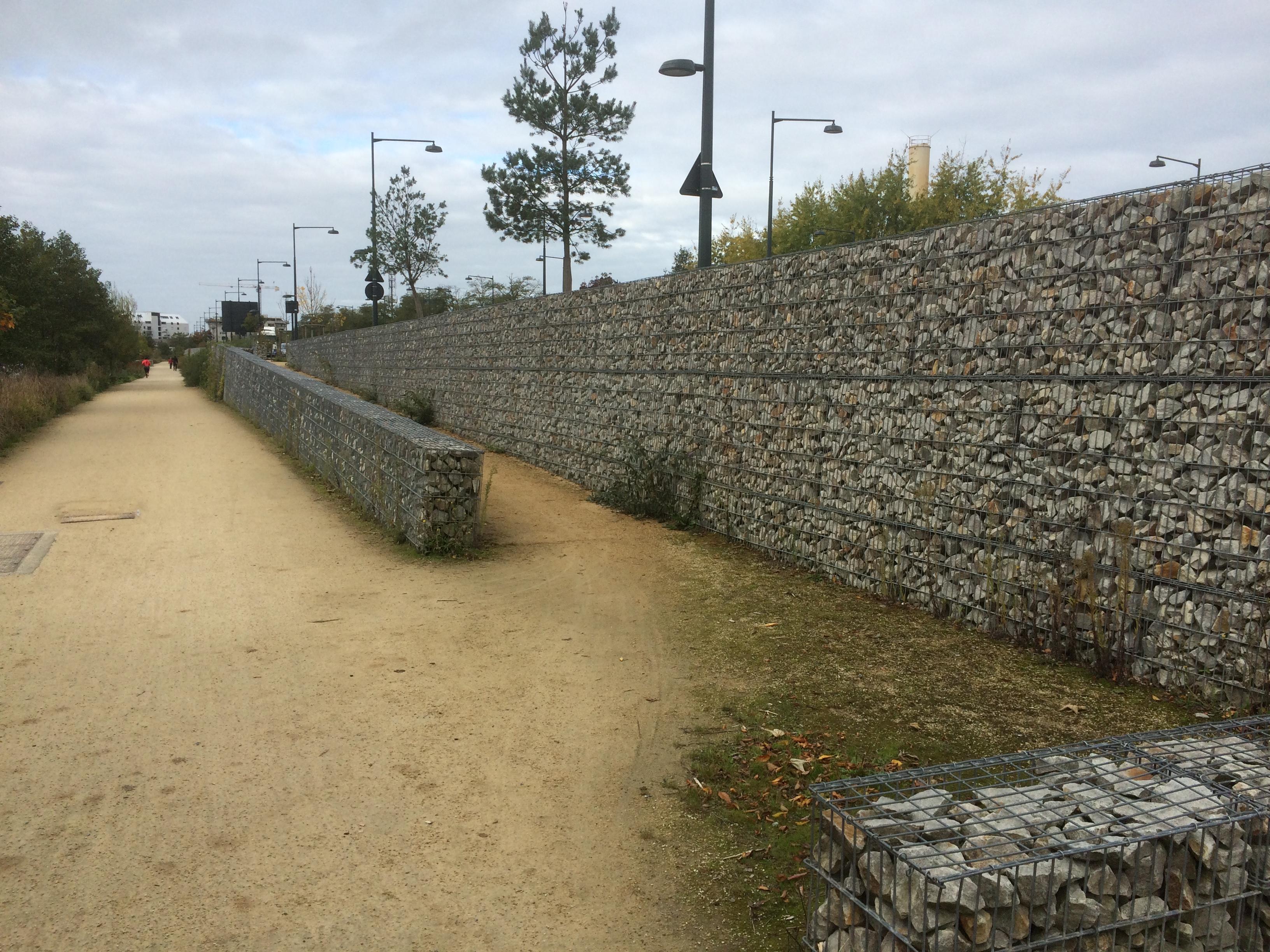 gabions walls rennes entrances SETP